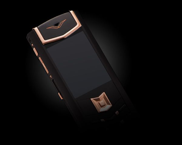 Vertu  Signature S Design DLC Red Gold Black Leather