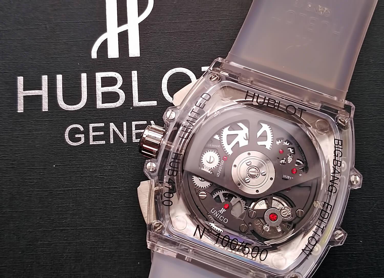 Оборотная сторона корпуса копии часов Hublot Spirit of Big Bang Sapphire a21328387d854