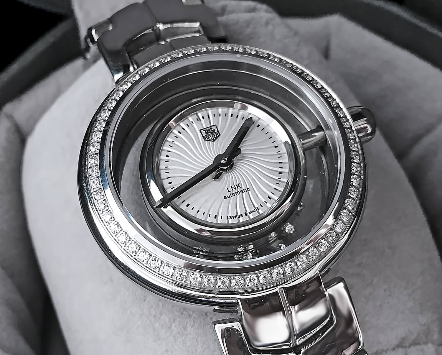 Циферблат копии TAG Heuer Link Lady Diamond Star