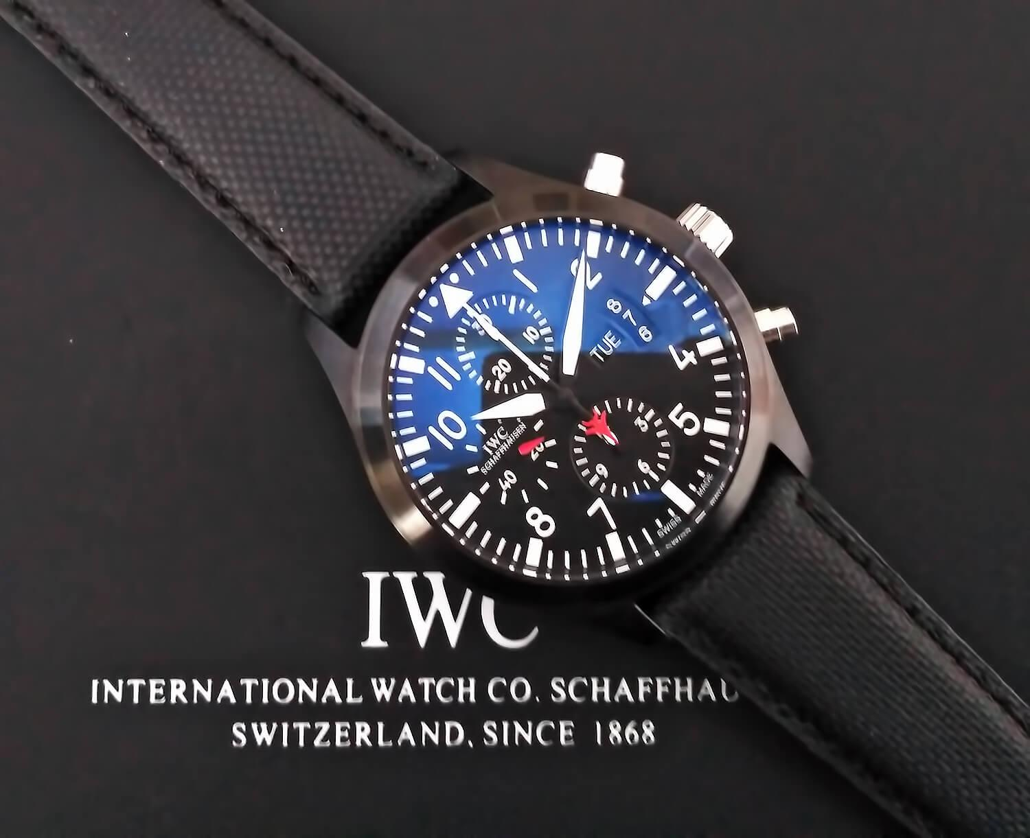Точная реплика IWC Pilot`s Watch Chronograph Top Gun
