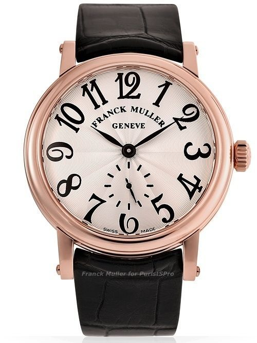 Мужские часы Frank Muller Classik Round Leather Strap Watch