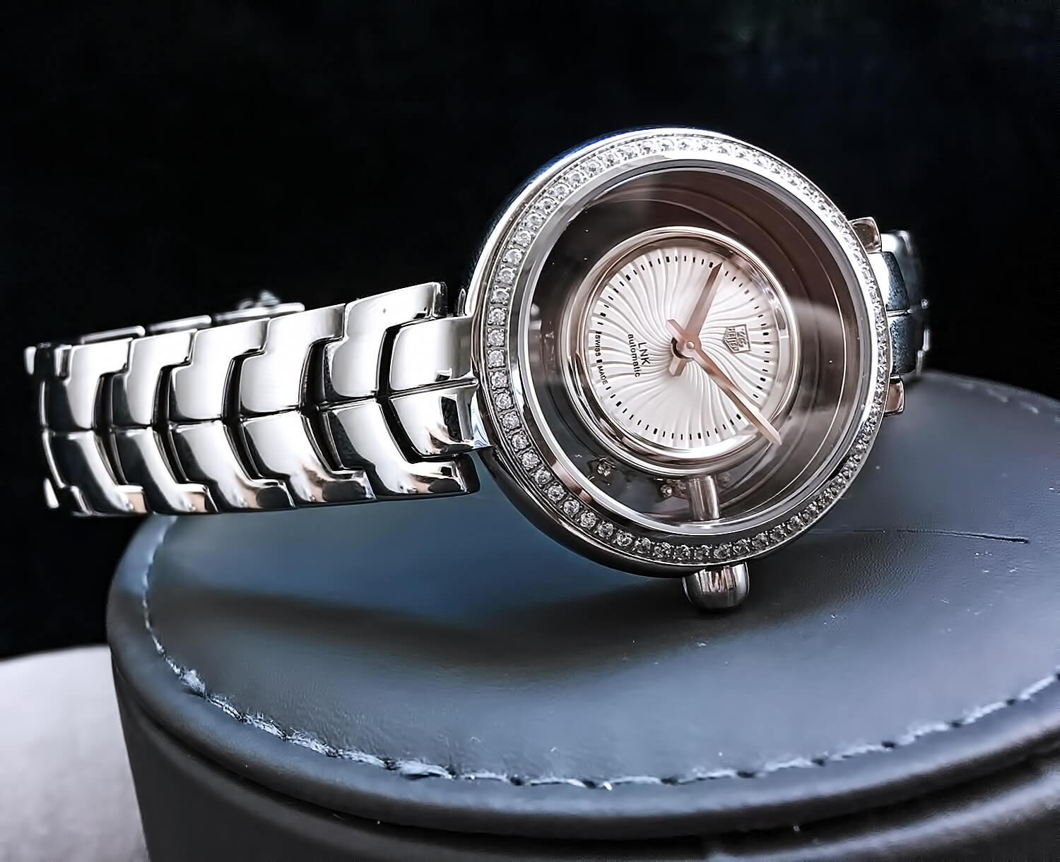 Реплика женских часов TAG Heuer Link Lady Diamond Star