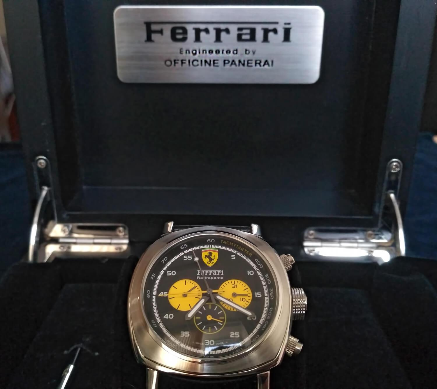 Реплика часов Officine Panerai Ferrari Scuderia Rattrapante Yellow Counters 45 mm