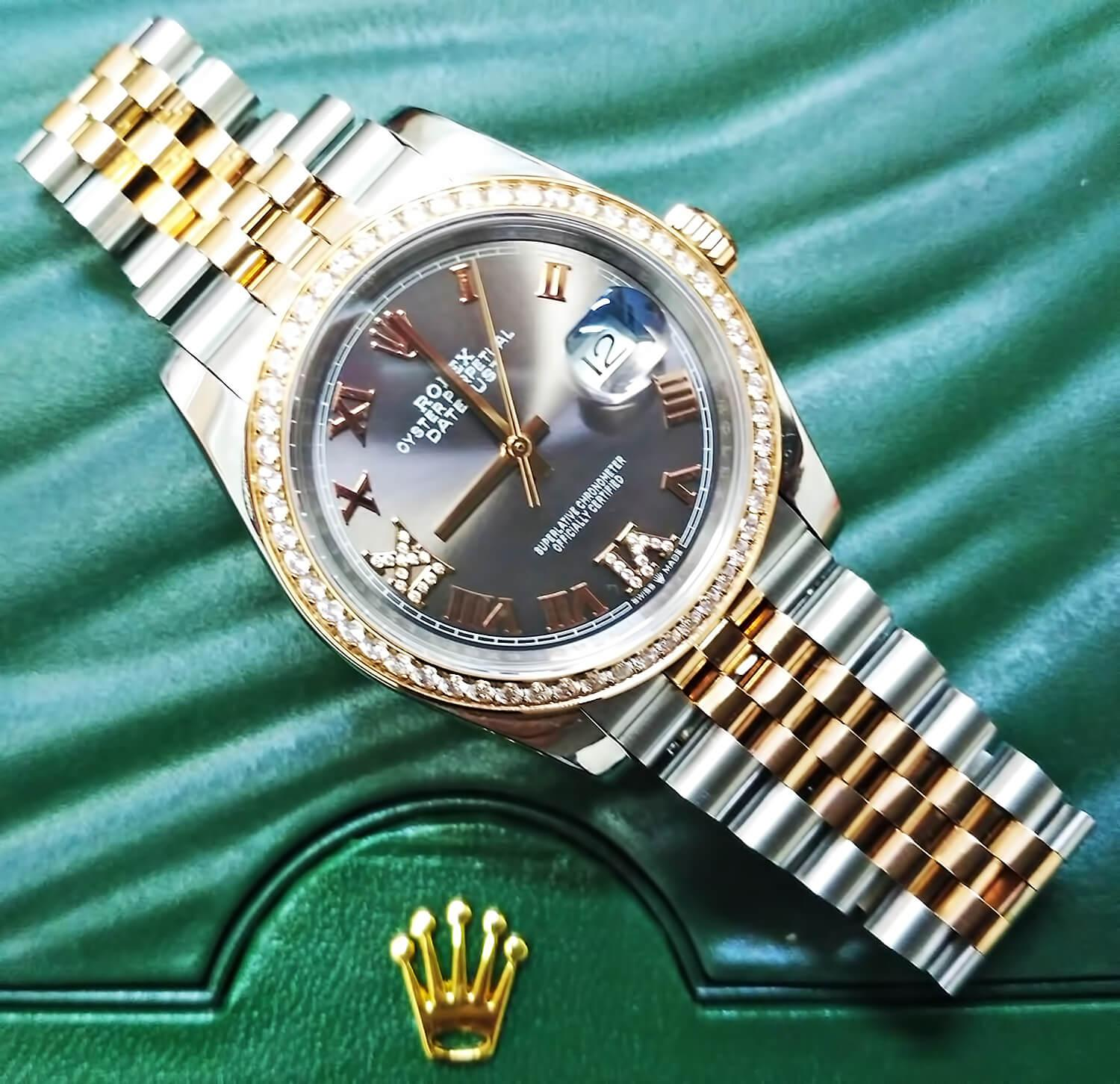 Точная реплика Rolex Oyster Perpetual Datejust 36mm Steel and Everose Gold
