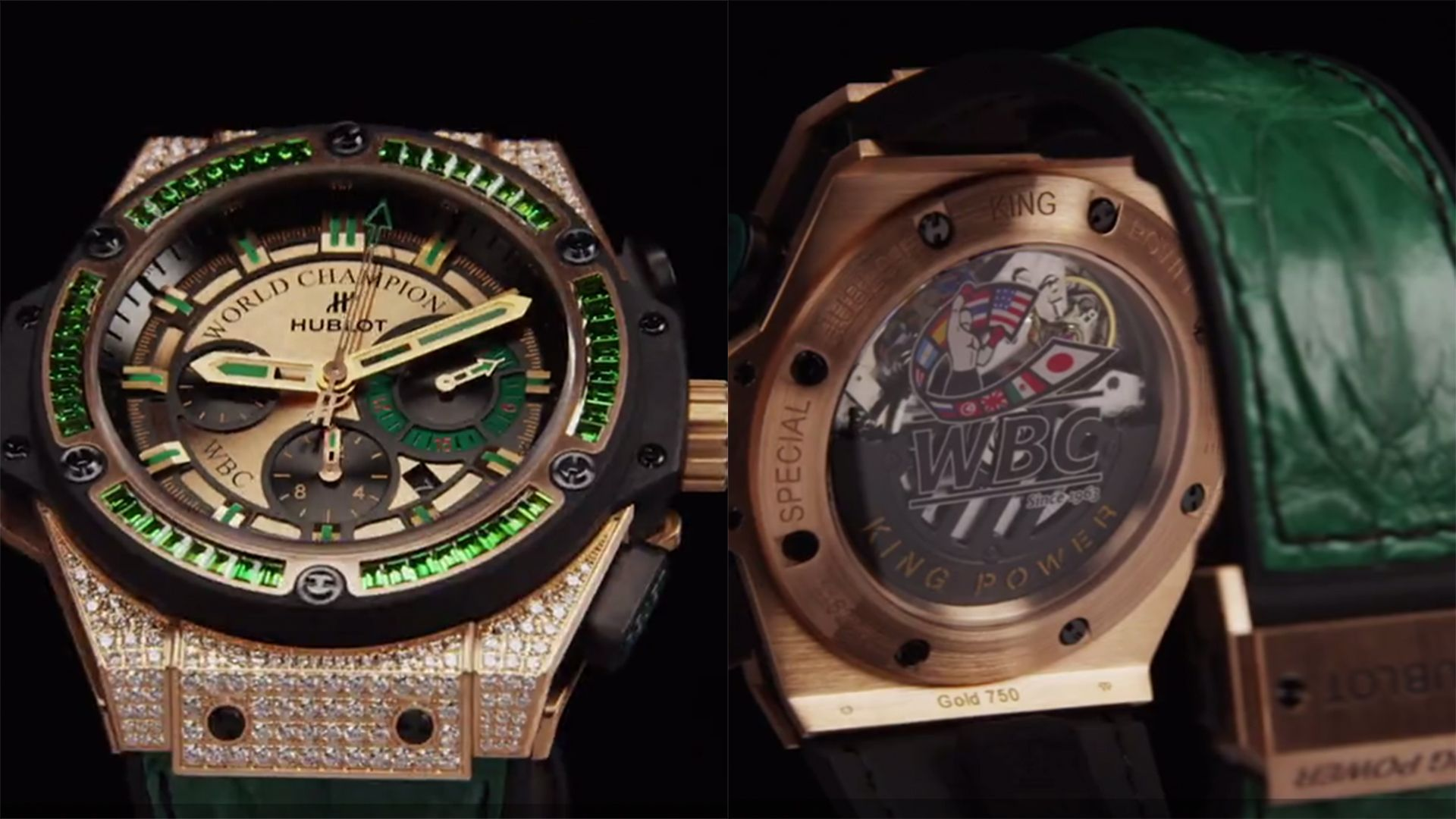 часы Hublot King Power WBC Full Pave