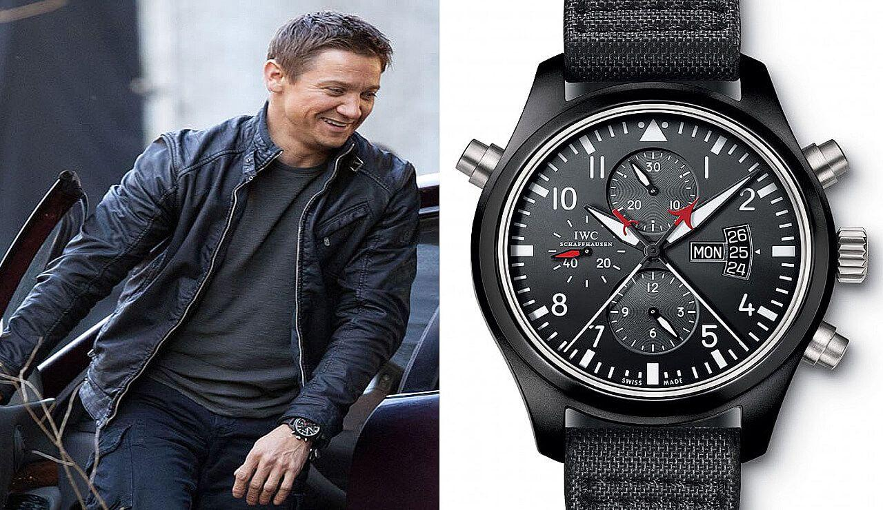 Часы Джереми Реннера IWC Pilot's Watch Double Chronograph