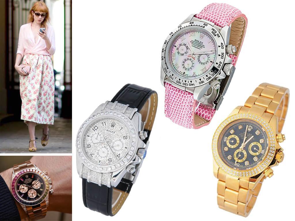 Разновидности женских часов rolex