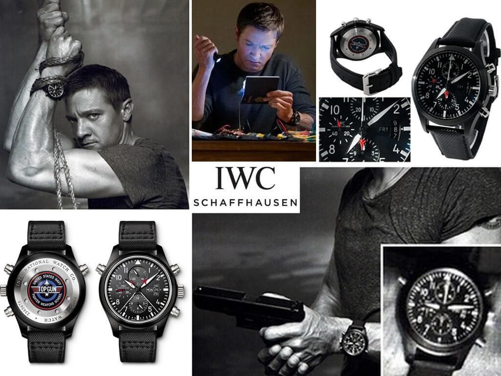 Часы Аарона Кросса (Джереми Реннер) IWC Pilot's Watch Double Chronograph Edition TOP GUN калибра 379901