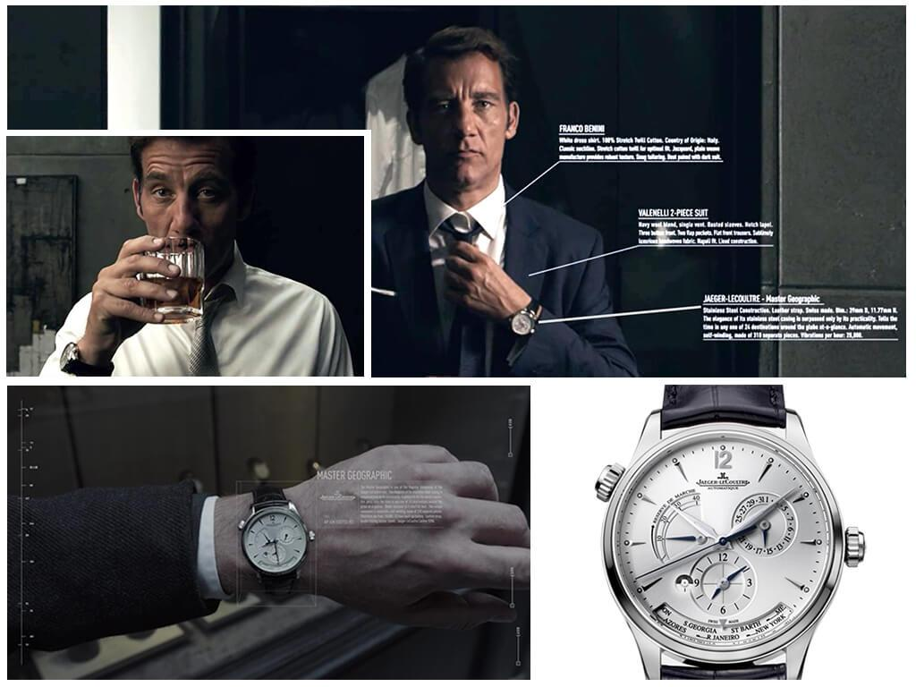 Anon (2018): наручные часы Сола Фриленда (Клайва Оуэна) Jaeger-LeCoultre Master Geographic 1428421