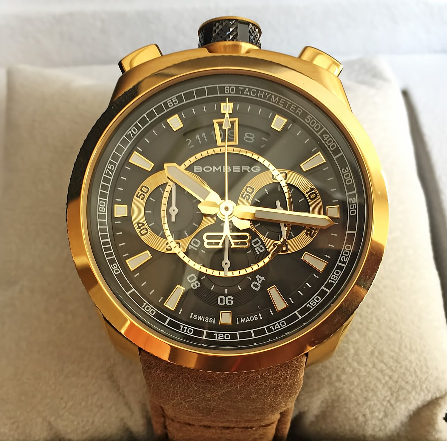 Копия Bomberg Bolt-68 Quartz Chronograph