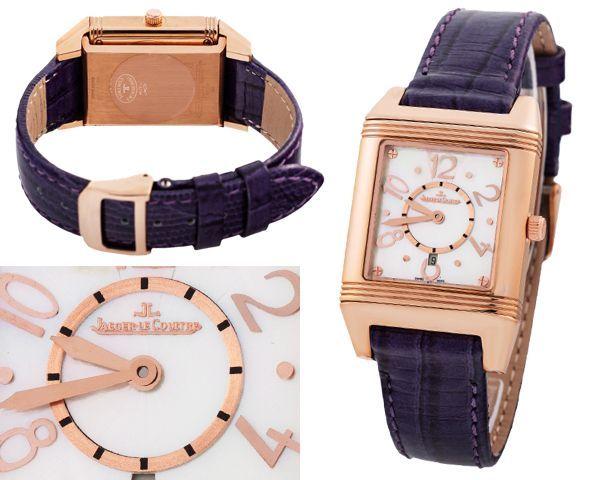 Женские часы jaeger-lecoultre reverso lady из коллекции reverso корпус из желтого золота с белым циферблатом на